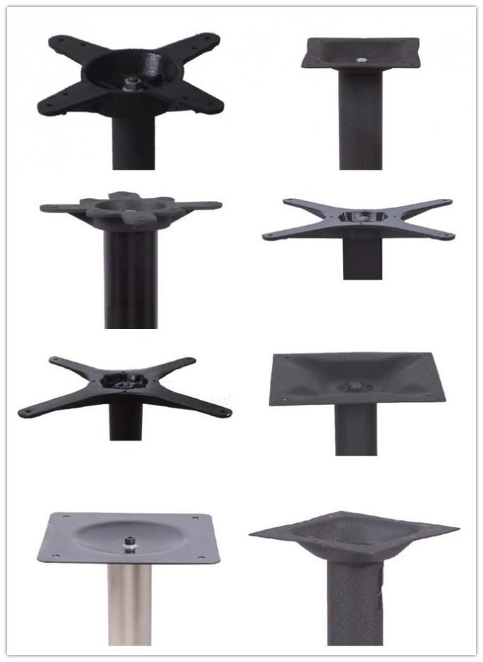 Cast Iron Cross Table Base With Black Powder Coated ISO Certification Hospitality Furniture
