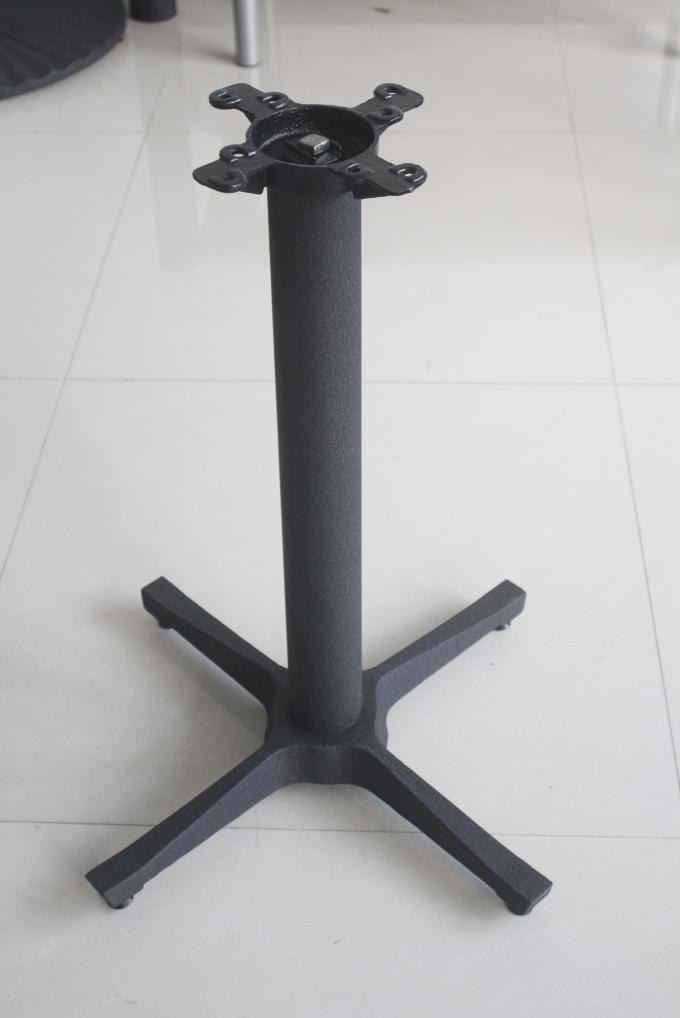 Item 2902 Metal Dining Table Base , Flat Self Stabilizing Cast Iron Table X Base