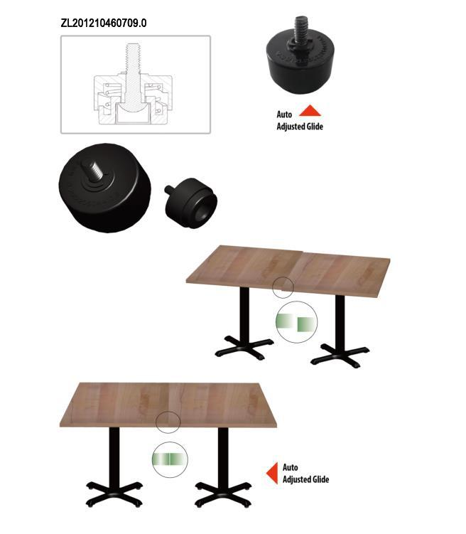 Professional Dining Table legs Pedestal Base / Table Legs With Black Powder Coating