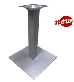 China Outdoor Modern Metal Table Base , Mild Steel Table Legs Square With Silver Powder Coated supplier