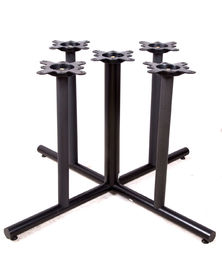 China 2205 Custom Dining Table Base / Metal Furniture Legs Black Powder Coated supplier