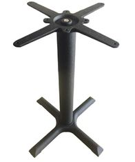 China 1100 Custom Cross Table Base / Metal Garden Table Legs Powder Coated Finish supplier