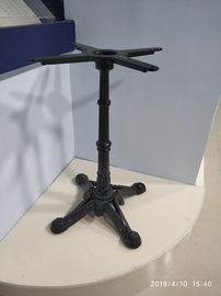 China Cast Iron Vintage Restaurant Table Bases Height 28'' Black Sandy Texture Powder Coated supplier