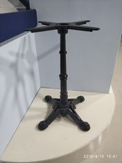 China Fancy Vintage Metal Table Legs Sturdy Column Cast Iron Powder Coated Black Color supplier