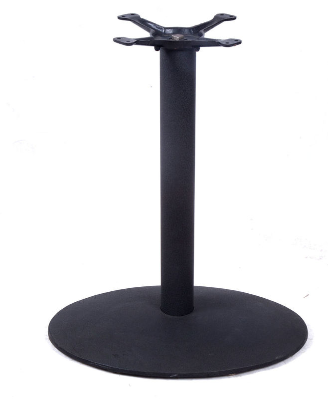 Modern Metal Table Legs , Cast Iron Bistro Table Base For Dining Table