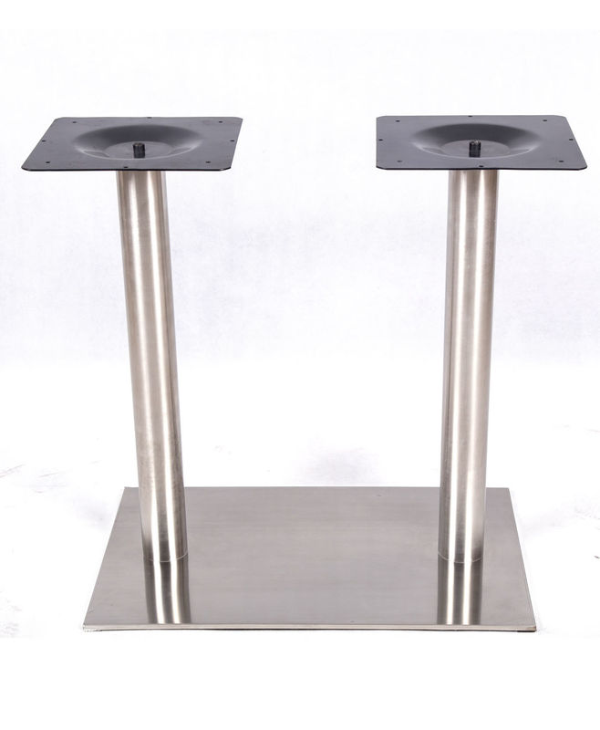 Square Stainless Steel Table Legs / Table Base Modern Style With Plastic Glides
