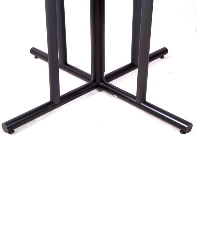 Outdoor Black Metal Table Legs And Bases , Dining Room Table Legs For Restaurant