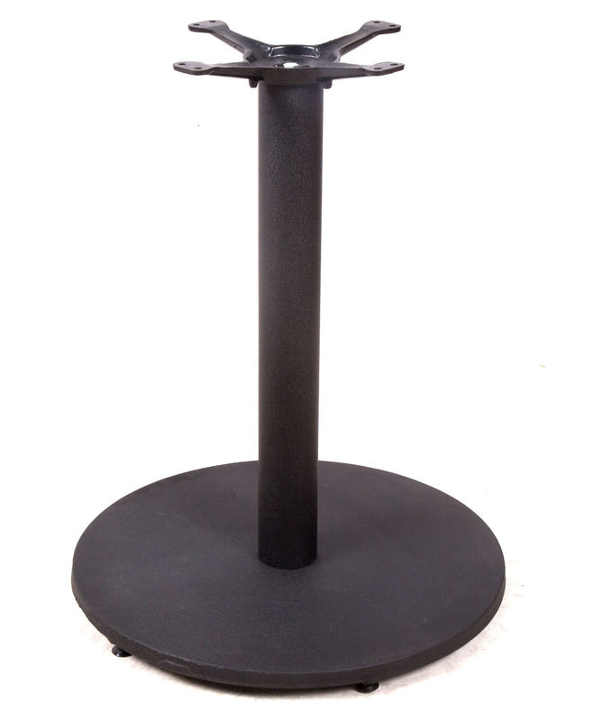 Professional Dining Table Pedestal Base / Table Legs With Black Powder Coating