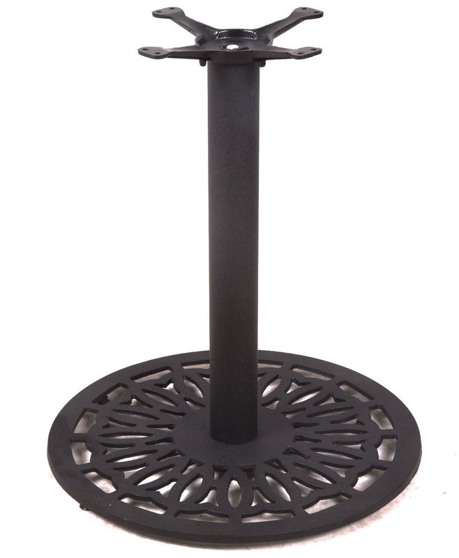 Round Metal Bar Table Legs Cast Iron Reataurant Table Base Black  28''/41'' Height