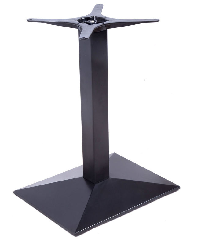Bistro Table Base Cast Iron Square Metal Legs Modern