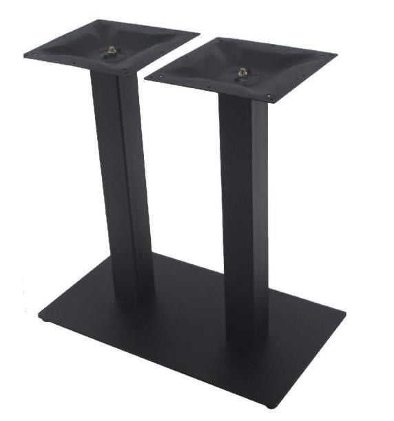 Cast Iron Table Base Sqaure Base Restaurant Table Black Wrinkle Powder Coated