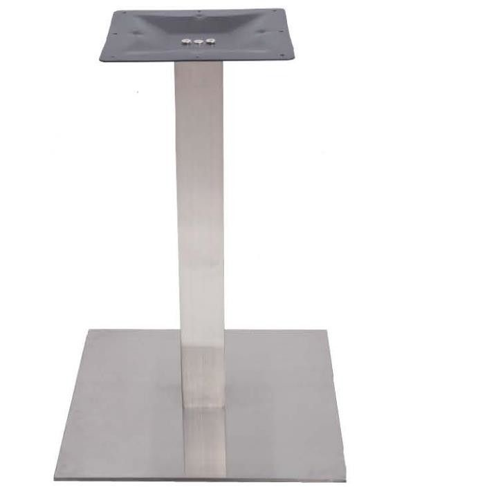 Bistro Table base Stainless Steel Brush finish Height 42'' Thickness 8mm Plate