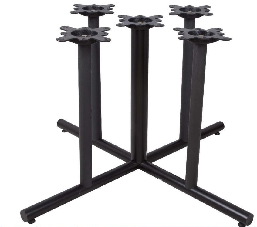 Cast Iron Restaurant Table Bases Multi Columns Sturdy Cheap Furniture Component