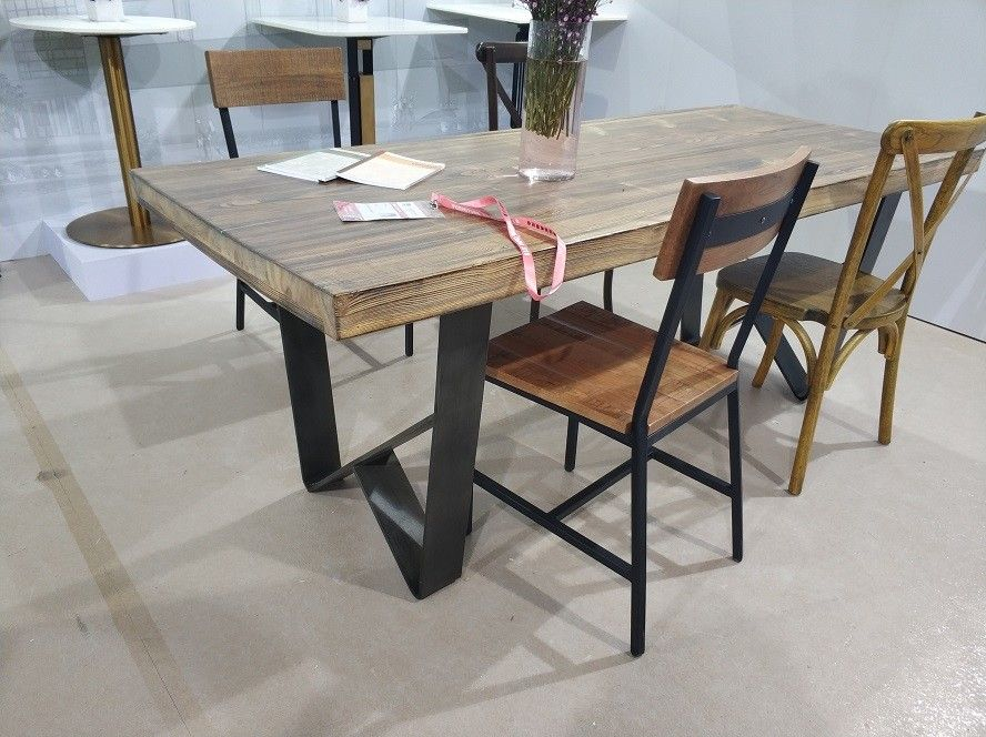 Industrial Cast Iron Table Legs Metal Dining Table Base 28 Height