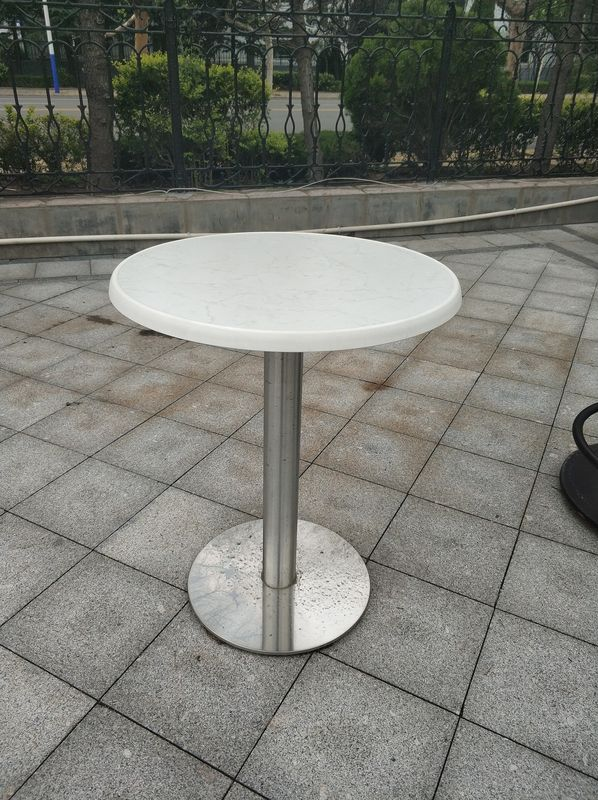 Outdoor Furniture Cafe Metal Garden Table Legs Waterproof Mirror Finish