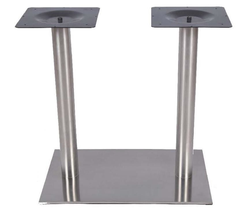 Outdoor Stainless Steel Table Legs Sqaure  / Rectangle Shape 28'' / 41'' Height