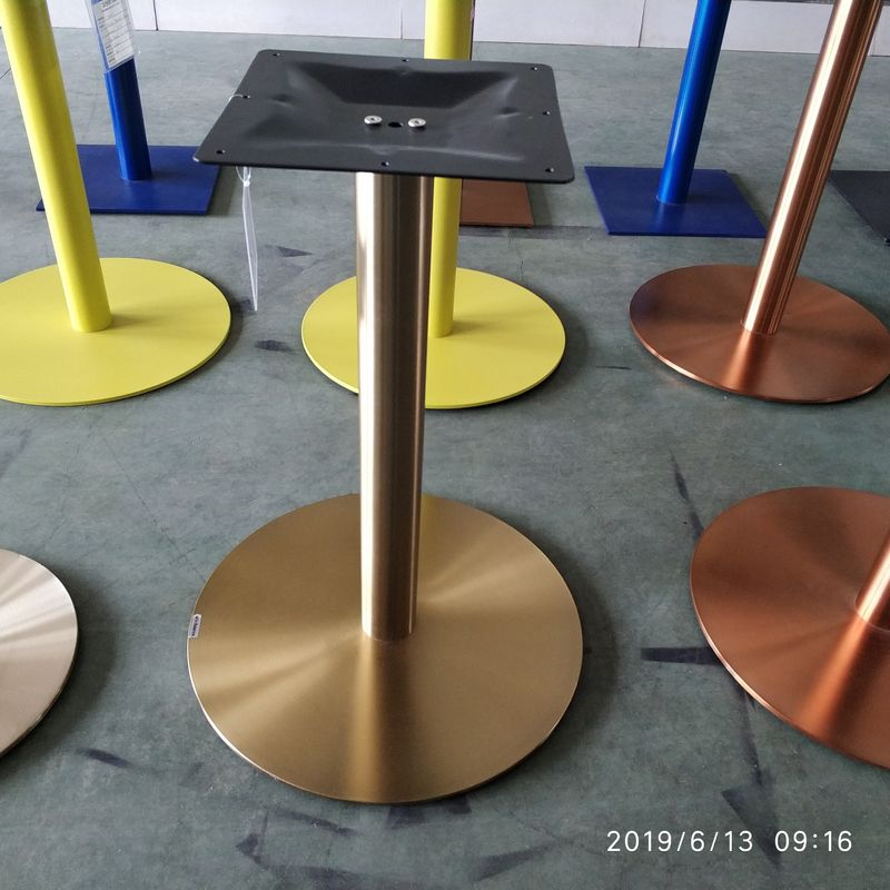 Colorful Metal Coffee Table Base Golden Table Bases With Adjustable Feet