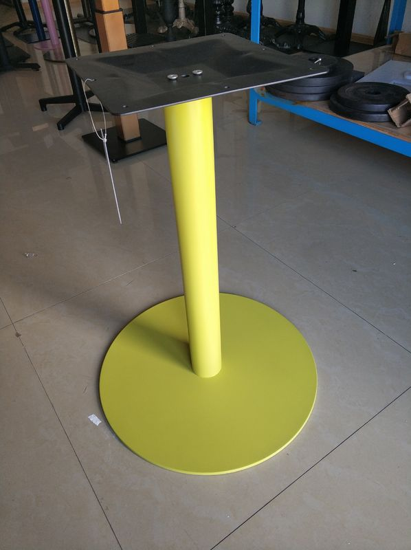 Resrautant Custom Metal Table Bases Adjustable Feet Round Base Stainless Steel Material