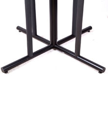 China Outdoor Black Metal Table Legs And Bases , Dining Room Table Legs For Restaurant distributor