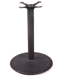 China Different Design Bistro Table Base Color Customized Cast Iron Material Round Table factory