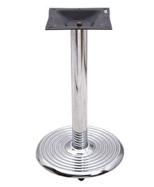 China 0401c Bistro Table Base  Chrome Table Legs With 18' /22'/28' Round Base Outdoor factory
