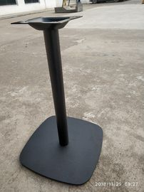 China Round Column Cast Iron Table Base Square Shape Powder Coat Finish For Restaurant distributor