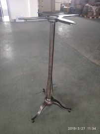 China Bar Table legs Cast Iron Table base Unfinished coat Bar Height Metal Table legs factory