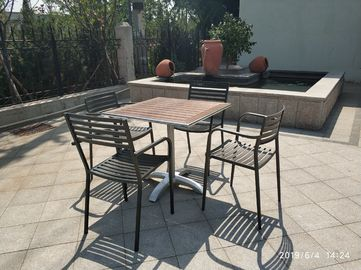 China Modern Outdoor Table base Aluminum Table legs 26'' Cross Base Outdoor Furniture factory