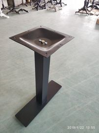 China Steel Long Table Legs Outside Furniture Sandy Texture Finish Commercial Table Bases factory