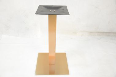 China 71cm Height Banquet Table Legs Stainless Steel Furniture Parts Copper Color factory