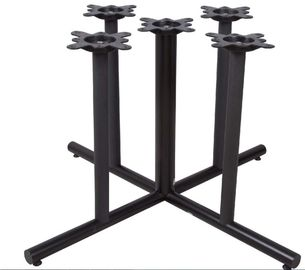 China Large Dining Black Metal Table Legs Furniture Bar Table Legs Mild Steel Material factory