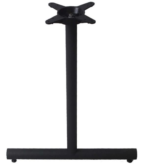 Restaurant Metal Table Legs  2''X20'' Table Base Black / Brown Colour End Base