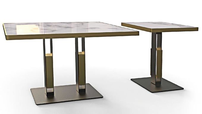 Professional Mild Steel Restaurant Bar Table Bases Square Metal Table Base 28'' Height