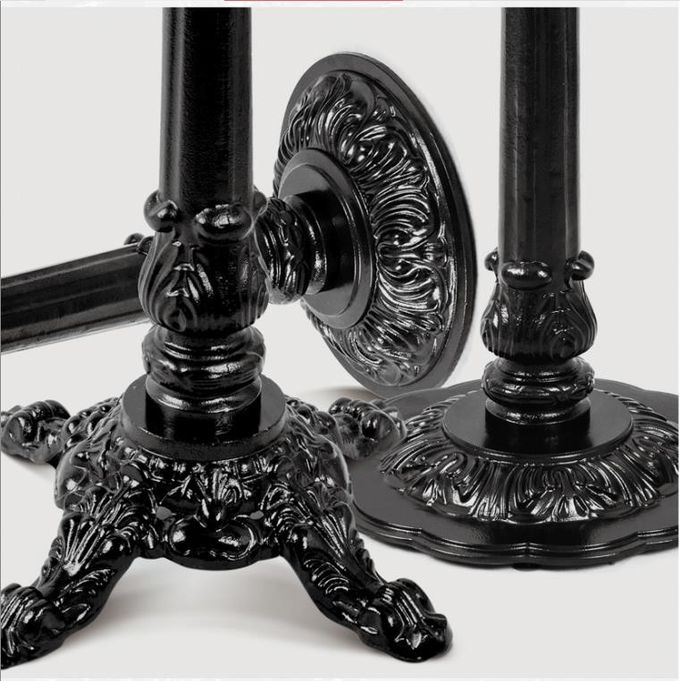 Cast Iron Metal Garden Table Legs / Bar Height Table Base For Hotel