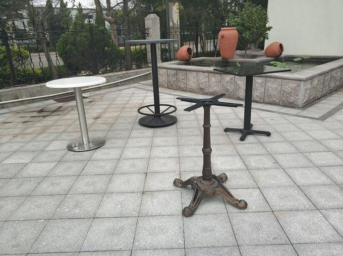 Popular Restaurant Bar Table Bases , Outdoor Dining Table Legs 28''/41'' Height