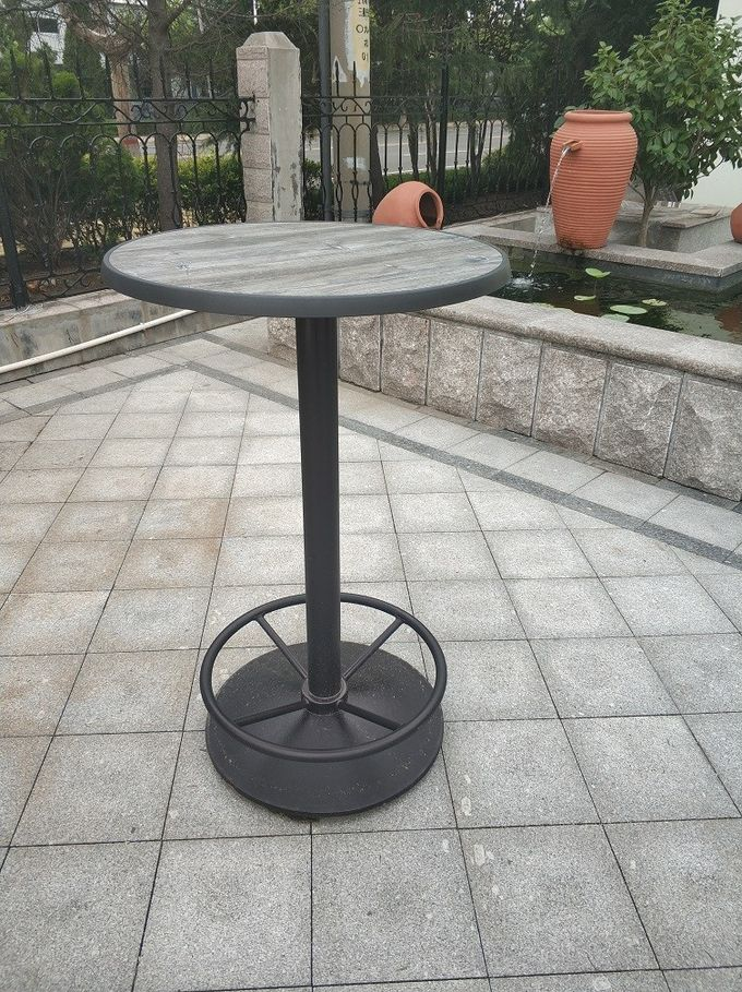 Cast Iron Fashionable Restaurant Table Bases 28''/41'' Height Black Powder Coated