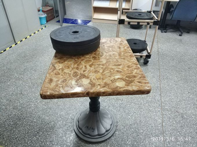 Industrial Bistro Table Base Cast Iron Powder Coating Tulip Table Base