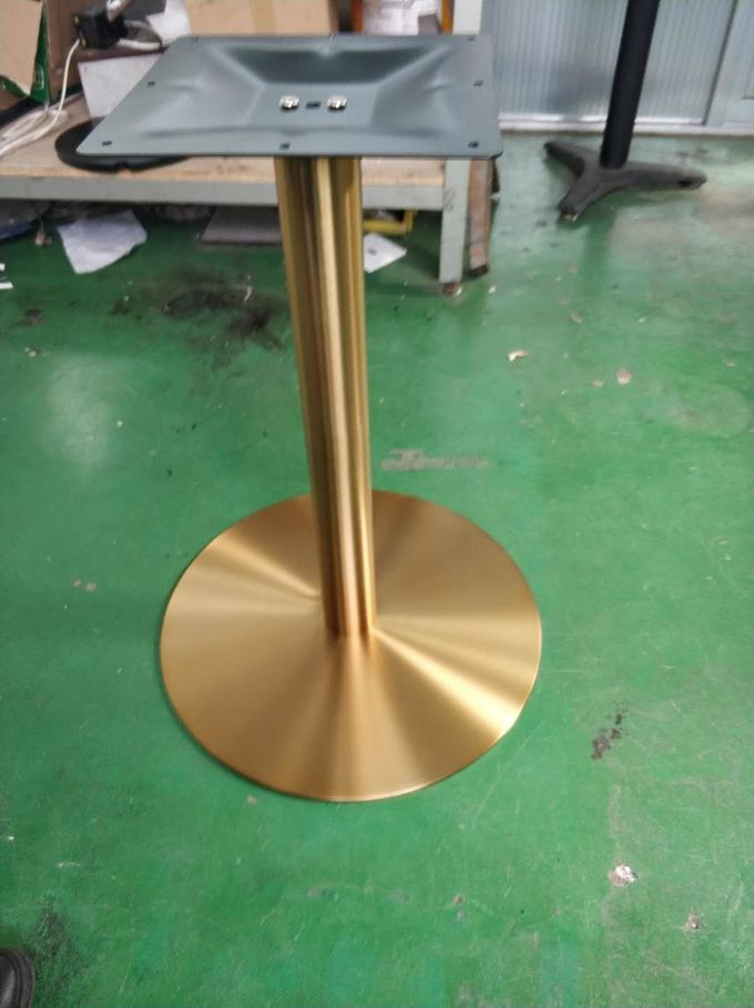 Stainless Steel Table Legs / Hospitality Table Base With Copper Finish 2109-GD